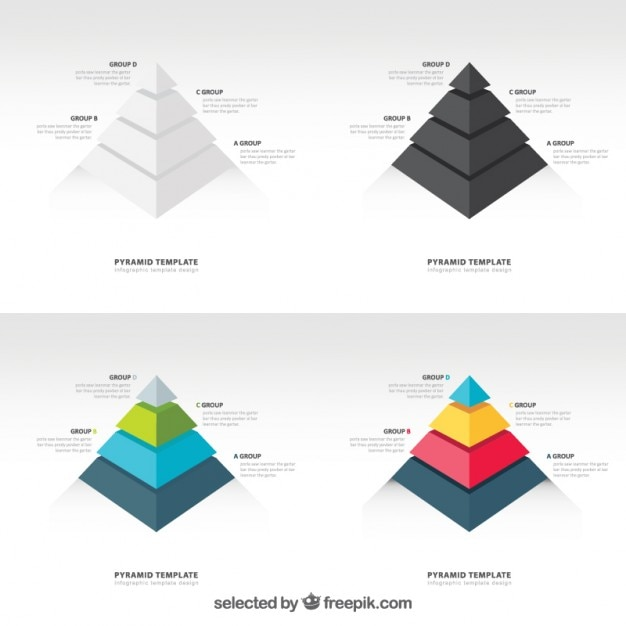 Piramida Grafiki Darmowych Wektorów