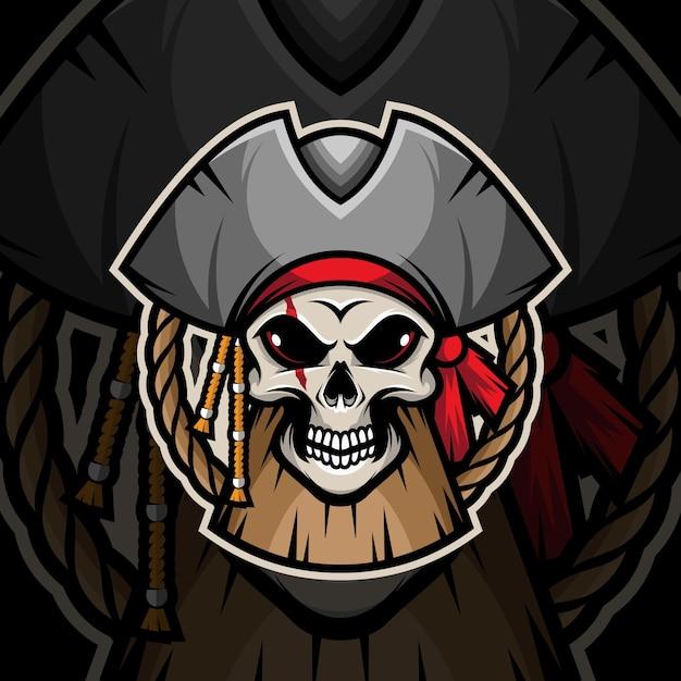 Pirat Czaszki Premium Wektorów