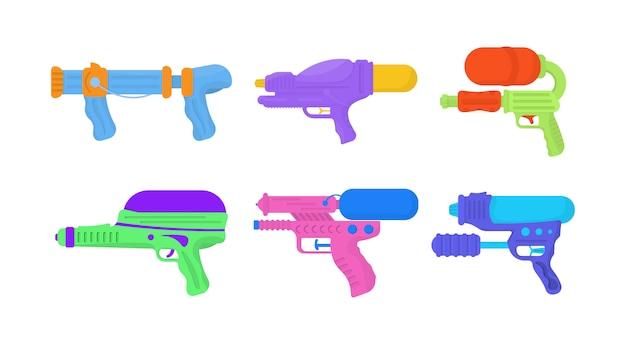 Pistolety Na Wodę Premium Wektorów