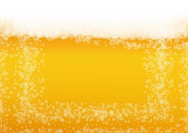 Piwo Tło Z Realistycznymi Bąbelkami. Premium Wektorów