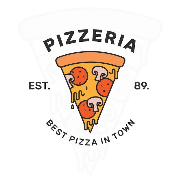 Pizza Szablon Projektu Logo Darmowych Wektorów