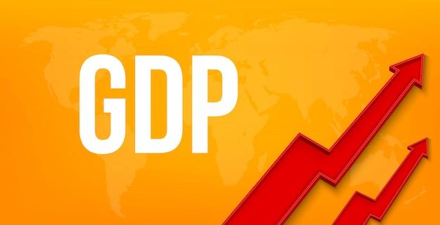 Pkb, produkt krajowy brutto, wzrost finansowy. Premium Wektorów