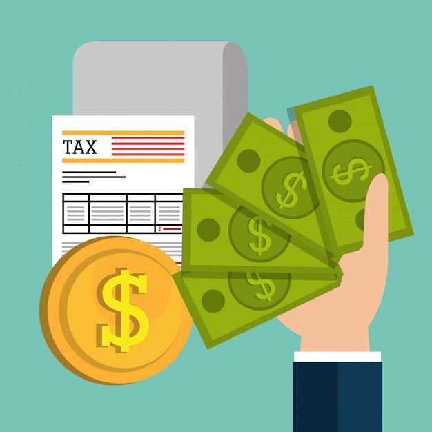 Płać Podatki Graficzne Premium Wektorów