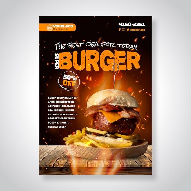 Plakat Amerykańskiej żywności Darmowych Wektorów