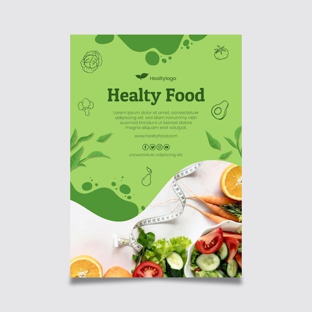 Plakat Bio I Zdrowej żywności Darmowych Wektorów