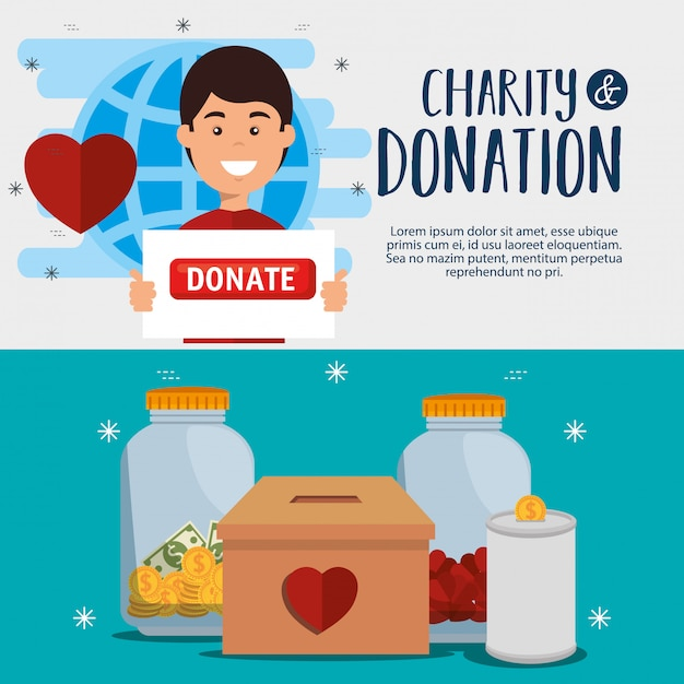 Plakat Darowizny Na Cele Charytatywne Darmowych Wektorów