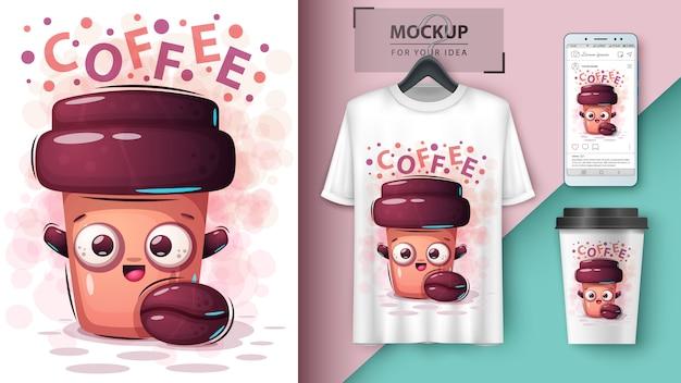 Plakat Do Picia Kawy I Merchandising Premium Wektorów
