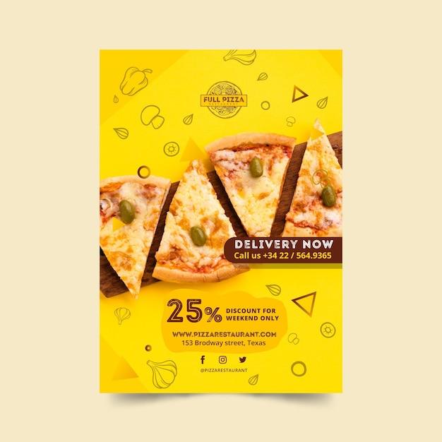 Plakat Do Restauracji Pizzy Darmowych Wektorów