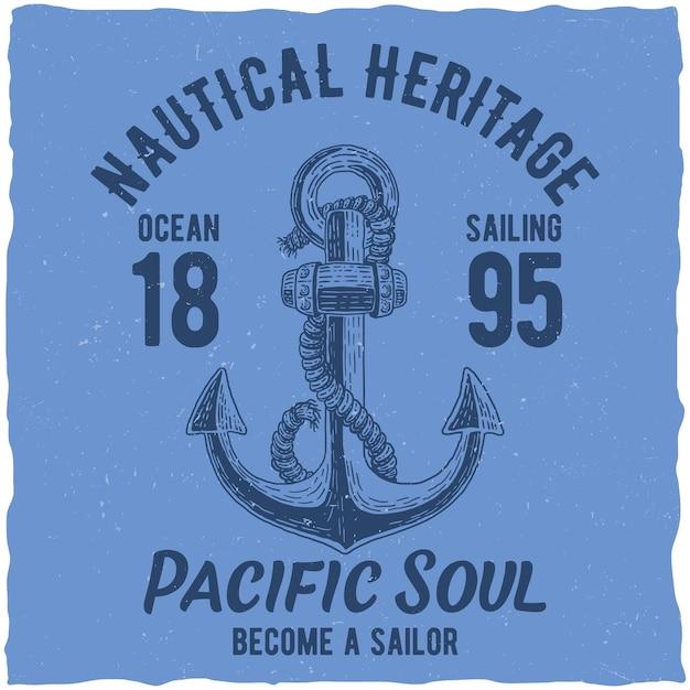 Plakat Dziedzictwa Morskiego Darmowych Wektorów