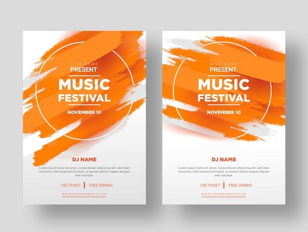 Plakat festiwalu muzycznego Premium Wektorów