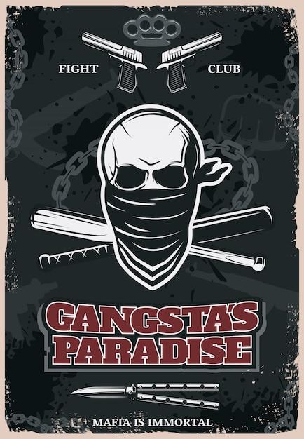 Plakat Gangstas Paradise Darmowych Wektorów