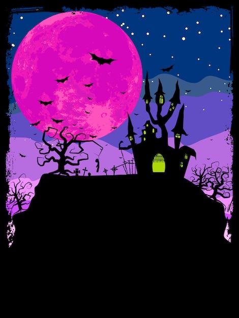 Plakat Halloween. Premium Wektorów