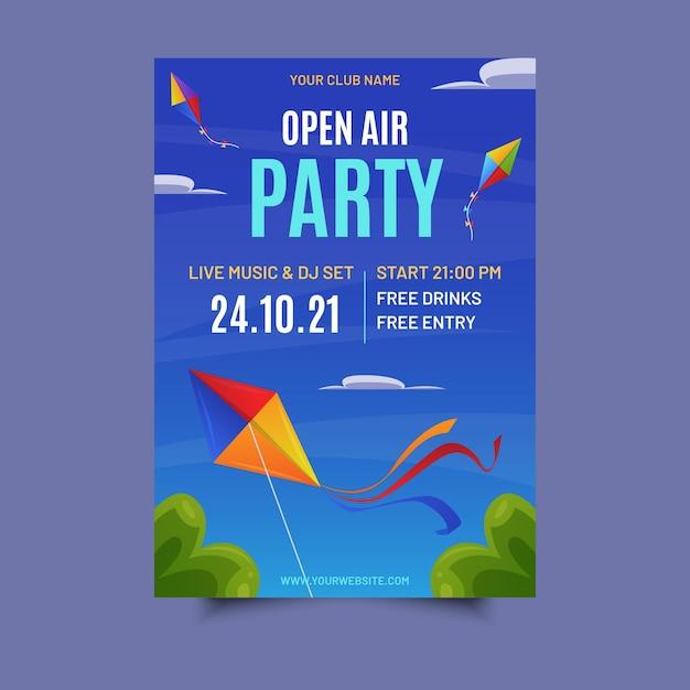 Plakat Imprezowy Na świeżym Powietrzu Darmowych Wektorów