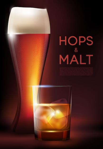 Plakat Kieliszki Do Picia Alkoholu Darmowych Wektorów