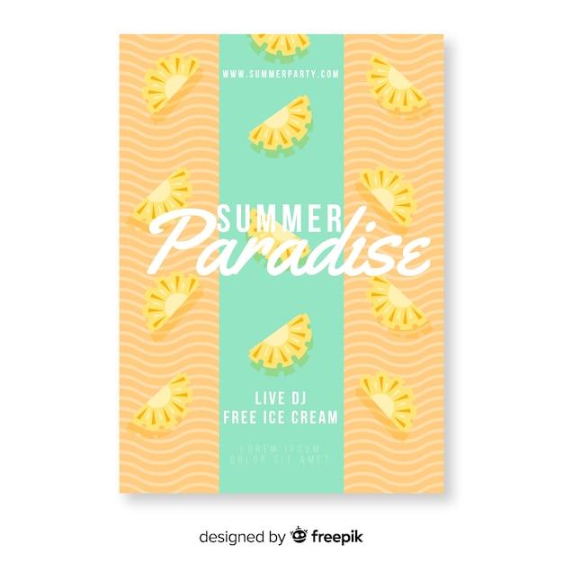 Plakat kolorowy letni raj Darmowych Wektorów