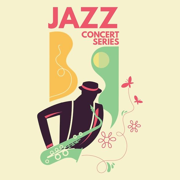Plakat Koncertu Muzyki Jazzowej Wektor Premium Pobieranie