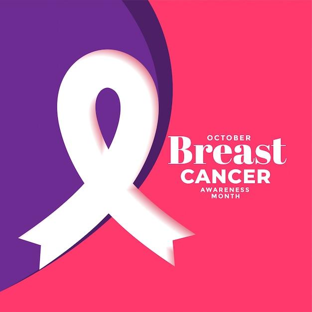 Plakat kreatywnych raka piersi z plakatu wstążki Darmowych Wektorów