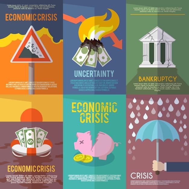 Plakat kryzysu gospodarczego Darmowych Wektorów