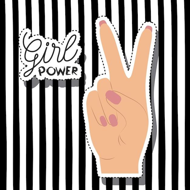 Plakat Moc Dziewczyny Premium Wektorów