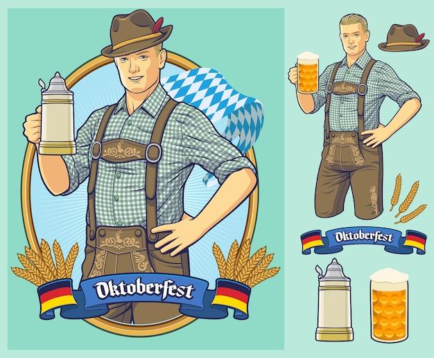 Plakat Oktoberfest, Zaproszenie. Premium Wektorów
