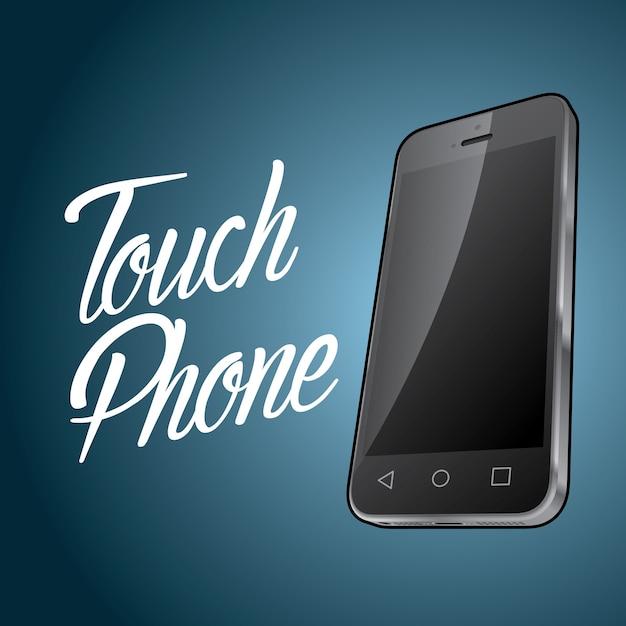 Plakat Projekt Urządzenia Smartfona Z Cyfrowym Obiektem I Ilustracją Telefonu Dotykowego Darmowych Wektorów