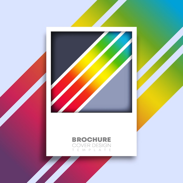 Plakat Retro Z Kolorowe Linie Gradientu Premium Wektorów