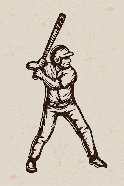 Plakat Rocznika Baseballu Premium Wektorów