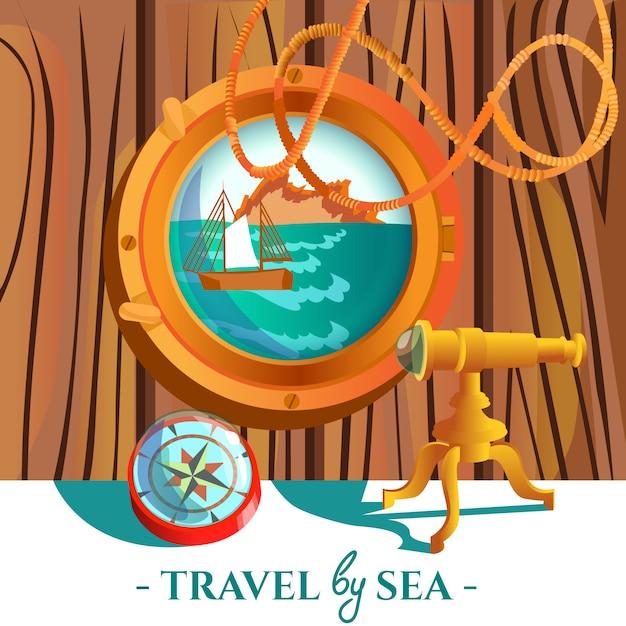 Plakat sea nautical Darmowych Wektorów