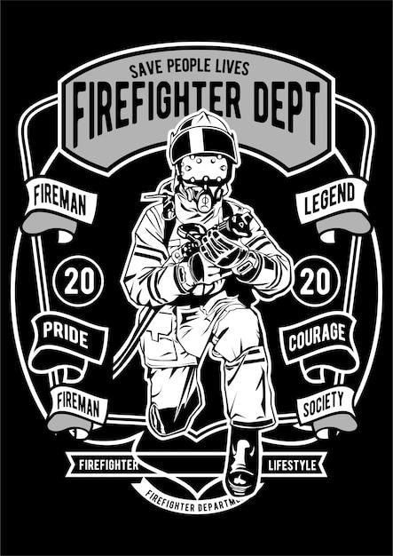 Plakat Strażacki Premium Wektorów