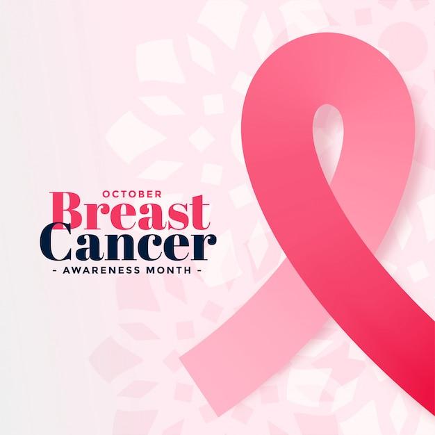 Plakat świadomości raka piersi października miesiąca Darmowych Wektorów