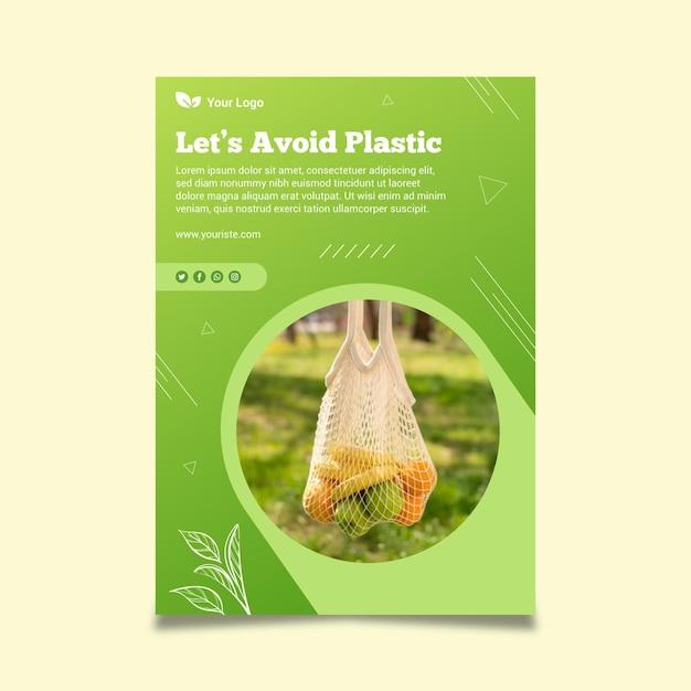 Plakat Szablonu Zero Waste Darmowych Wektorów