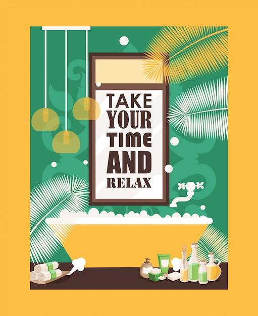 Plakat Typografii Bath Premium Wektorów