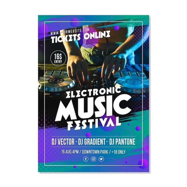 Plakat Wydarzenia Muzycznego 2021 Darmowych Wektorów