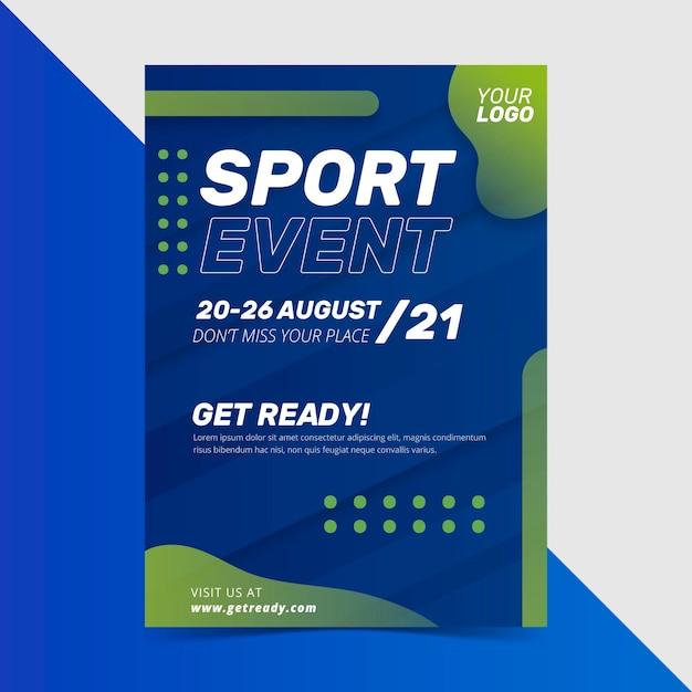 Plakat Wydarzenia Sportowego 2021 Darmowych Wektorów