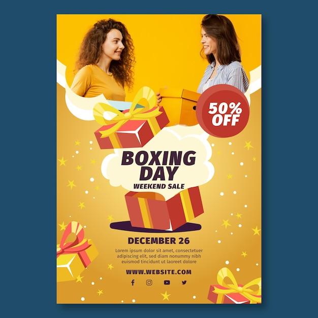 Plakat Z Okazji świąt Bożego Narodzenia A4 Darmowych Wektorów