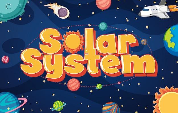 Plakat Z Wieloma Planetami W Układzie Słonecznym Premium Wektorów