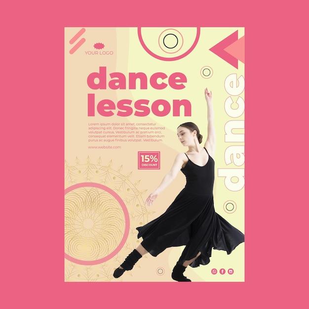 Plakat Zajęć Tanecznych Ze Zdjęciem Darmowych Wektorów