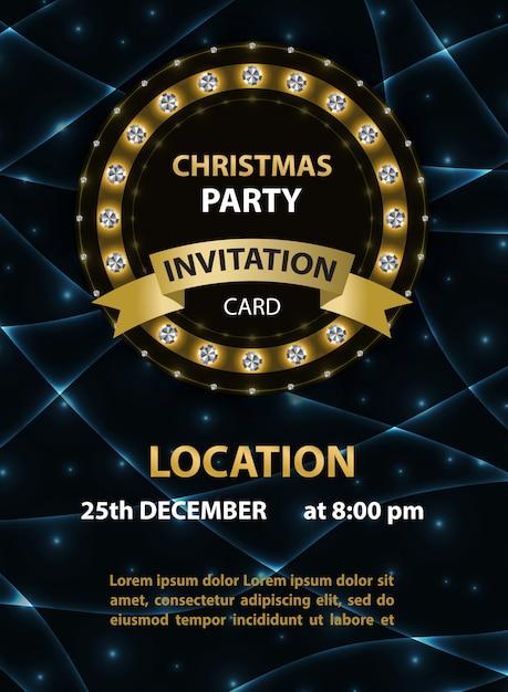 Plakat Zaproszenie Na Przyjęcie świąteczne Premium Wektorów