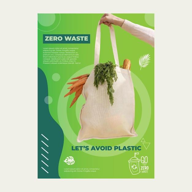 Plakat Zero Waste Darmowych Wektorów
