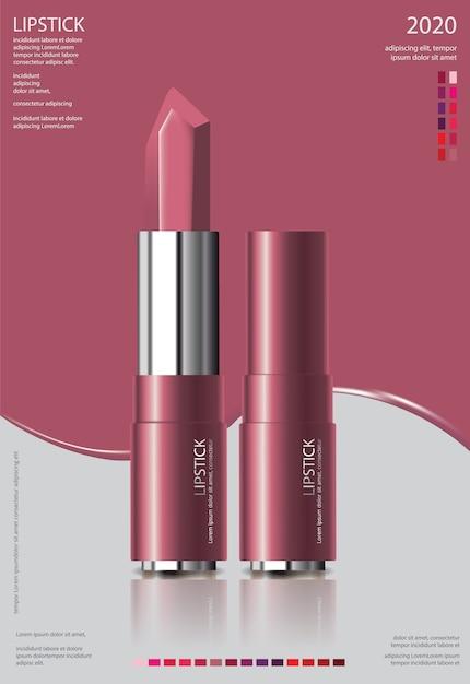 Plakatowa Plakatowa Pomadka Kosmetyczna Darmowych Wektorów