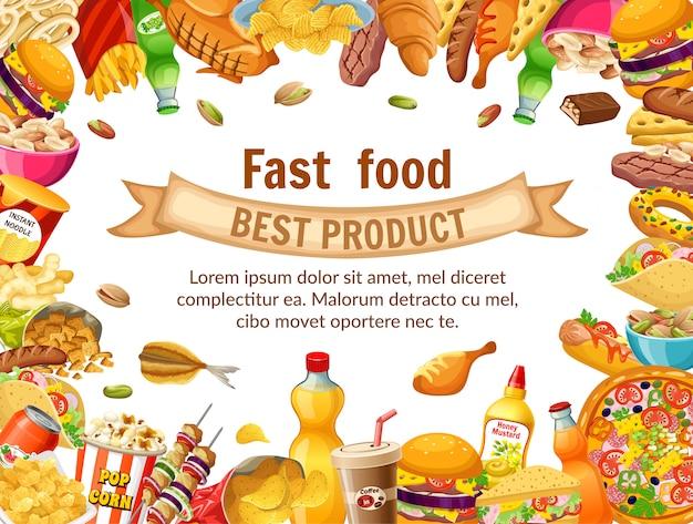 Plakatowe Fast Foody. Darmowych Wektorów