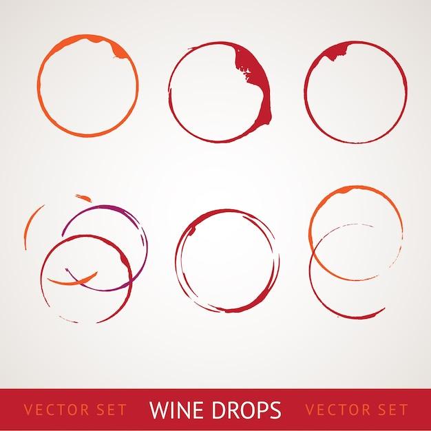 Plama z czerwonego wina. Darmowych Wektorów