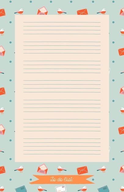 Planner Do Druku, Organizator. Ręcznie Rysowane Zimowe Ozdobne Notatki, Lista Rzeczy Do Zrobienia I Do Kupienia. Premium Wektorów