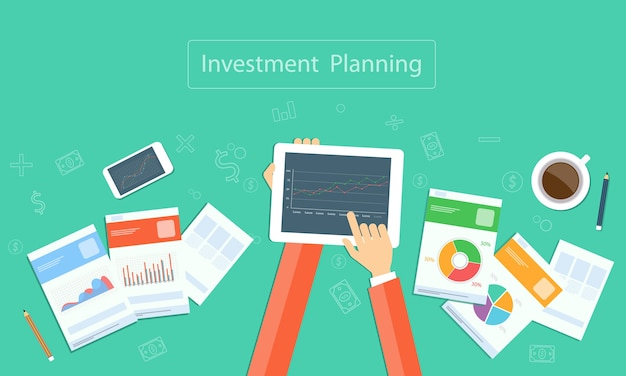 Planowanie Inwestycji Biznesowych W Zakresie Technologii Urządzeń Premium Wektorów
