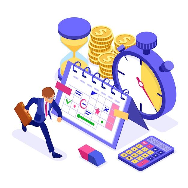 Planowanie Zarządzania Czasem Harmonogramu Premium Wektorów