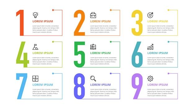Plansza Liczb Dla Opcji Biznesowych, Kroków, Procesów Premium Wektorów