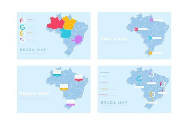Plansza Mapa Brazylia Ręcznie Rysowane Darmowych Wektorów