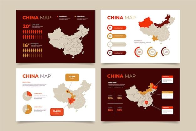 Plansza Mapa Chin Płaska Konstrukcja Darmowych Wektorów