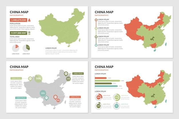 Plansza Mapy Chin Darmowych Wektorów