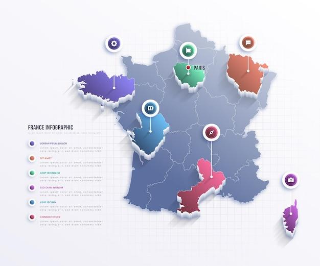 Plansza Mapy Francji Darmowych Wektorów